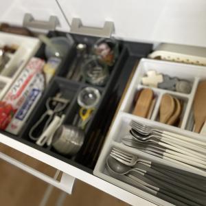 キッチンの引き出し収納を見直し♪ 3coinsグッズも。