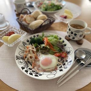 今朝はブラパラで朝ごはんプレートでした♪