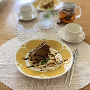 【スンヌンタイ】でおうちカフェ♪  夜な夜な焼いているシフォンケーキです。