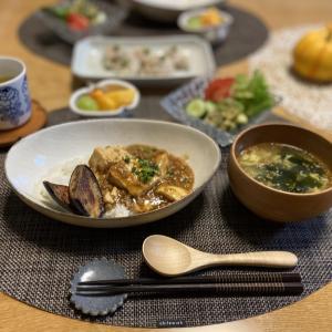 【おうちごはん】大好きな作家さんの器で麻婆豆腐♪