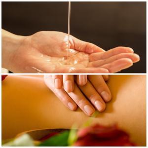 オイルを身体に塗る事で、皮膚から血液中に入り、全身を巡ります。オイルの効果も実感できます