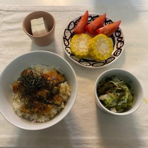子どもごはん【うな丼/夏野菜のパスタ】
