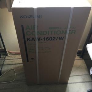 暑い夏を乗り切るため窓用エアコン コイズミ KAW-1602/W を購入