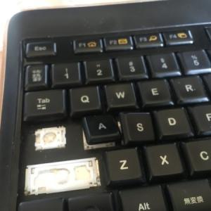 ジャンク Logicool ワイヤレスイルミネーションキーボード K800 キートップ爪折れ 修理