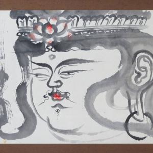 【新潟市/三条市/買取本舗ふくろう】 佐藤玄々 観世音菩薩 日本画 水墨画 仏画 絵画 美術品