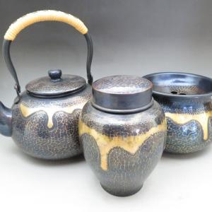 【新潟市/三条市/買取本舗ふくろう】 長寿堂 銅製 銅器 甕垂 湯沸 建水 茶壷 茶道具 工芸
