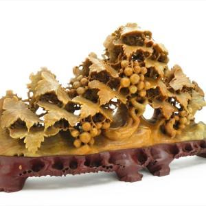 【新潟市/三条市/高価買取】 玉石 石製 石彫刻 精密彫刻 置物 中国美術 古玩 骨董品 工芸品