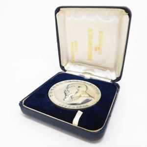 【新潟市/三条市/買取本舗ふくろう】 明治百年記念 明治天皇 御肖像碑 純銀 メダル 銀製品