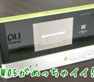 W05(WiMAX)に大満足!W04と比較&魅力をとことん解説!