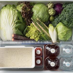 冷凍庫と野菜室の整理