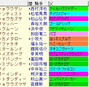 プロキオンステークス2021予想と傾向まとめ表
