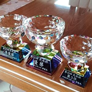 釣り大会にクリスタルカップ