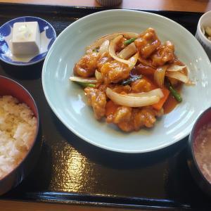 大田区西糀谷  わんわん庵 @酢豚定食 780円