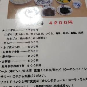 世田谷区上町 栄寿司 @晩酌セット 4,620円⇒2,310円+440円+???