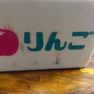 一箱1500円のリンゴが届いた