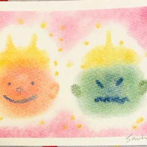 【1/21開催】3色パステルアートワークショップ~豆まきの鬼で1月のカレンダー♪