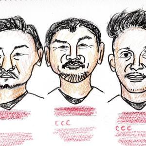 ラグビーワールドカップ選手の似顔絵を描いてみました。
