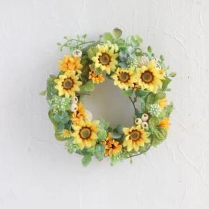 Smiling sumflower wreath