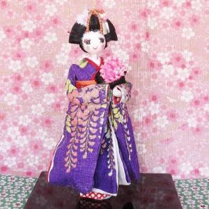 可愛い友禅和紙人形京都舞子お部屋がほ~と和みます