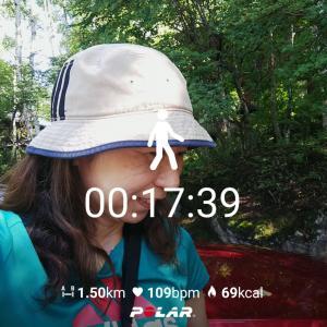 高原をジョギング、陽射しが強い!@蓼科高原