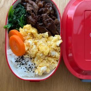 鉄板!簡単弁当NO1の焼き肉弁当~。