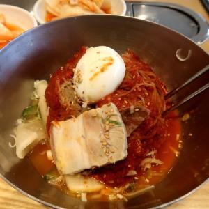 冷麺とアワビ粥