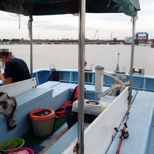 ウナギ釣り K曽川河口。 2020年7月23日(木)