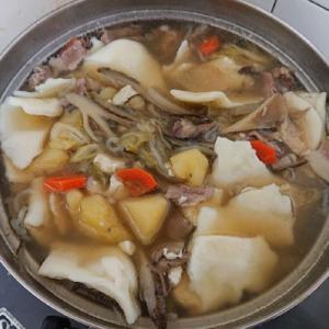 すいとん #料理 #すいとん #ひっつみ #冬 #郷土料理