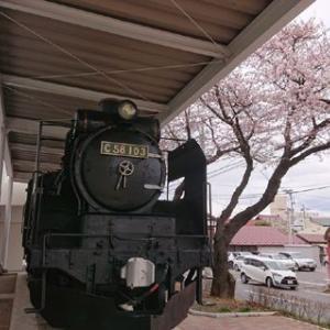 SLと桜  #岩手 #一関 #SL #一関文化センター #蒸気機関車 #国鉄 #JR