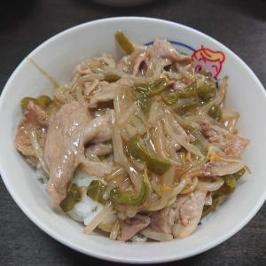 「豚肉もやし丼」 #料理 #食事 #豚肉 #もやし