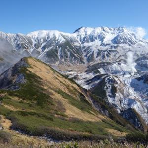 2019.11.4 うっすら雪化粧の奥大日岳を歩く