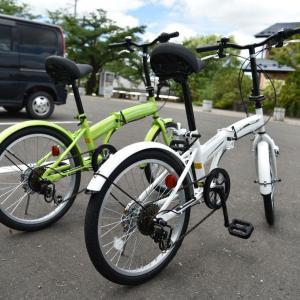 折りたたみ自転車でサイクリング