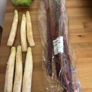 【野菜保存】ルバーブとホワイトアスパラ