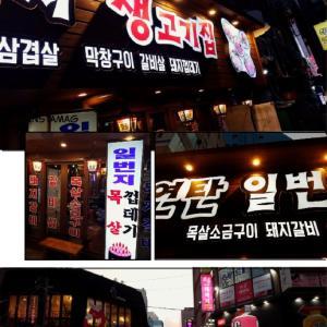 夏休みのソウル: 鍾路の一番地で肉を焼く!
