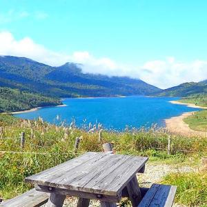 尻焼温泉「星ヶ岡山荘」と野反湖