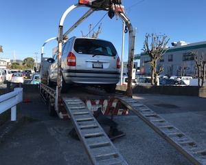 富岡市から遺産相続の不動車をレッカー車で廃車の引き取りしました。