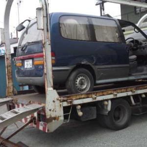町田市から車検切れの不動車をレッカー車で廃車の引き取りしました。