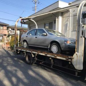 稲城市から事故車をレッカー車で廃車の引き取りしました。