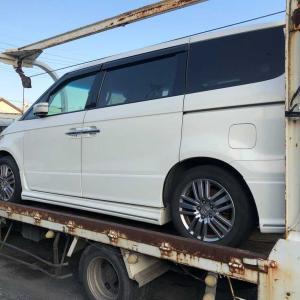 福生市から他人名義の故障車を廃車の引き取りしました。