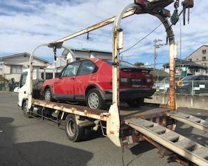 青梅市から車検切れ故障車をレッカー車で廃車の引き取りしました。