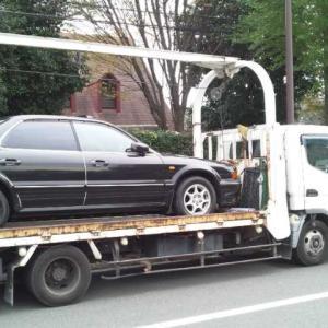 川崎市からレッカー車で故障車を廃車の引き取りしました。