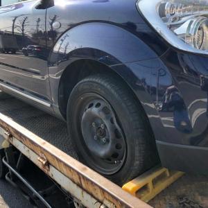 麻生区からパンクの不動車をレッカー車で廃車の引き取りしました。