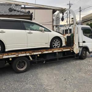 浦和区からパンクの車検切れ車を廃車の引き取りしました。