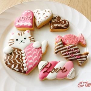 バレンタインアイシングクッキーレッスン♪