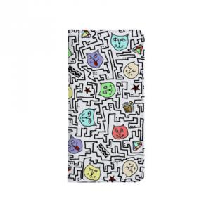 白CATS 手帳型スマートフォンケース