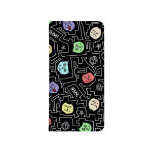 黒CATS 手帳型スマートフォンケース