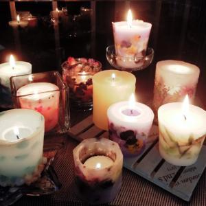 キャンドルの灯り……おうち時間を楽しむ!