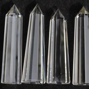 【新着】最強浄化!極上超透明12面カットヒマラヤ水晶4本&電磁波防御シュンガイトセット