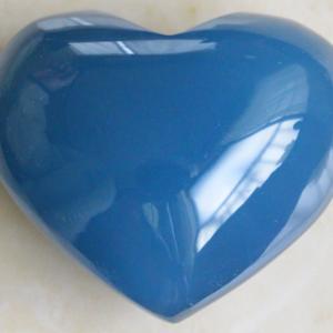【新着】極上ブルー!最高品質レムリアアクアティンカルサイト・ハート