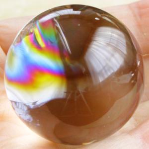 【新着】極上レインボー!超透明水晶丸玉